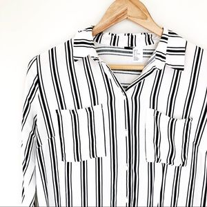 H&M Striped Career Blouse Size 6